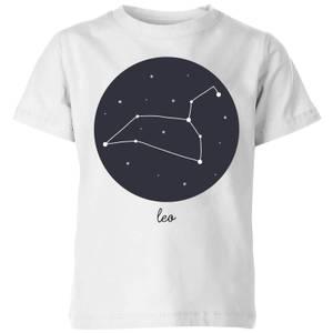 Leo Kids' T-Shirt - White