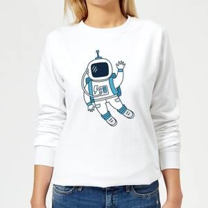 Astronaut Waving Women's Sweatshirt - White