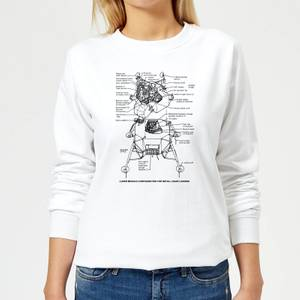 Lunar Schematic Women's Sweatshirt - White