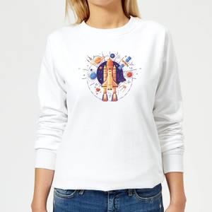 Blast Off Women's Sweatshirt - White