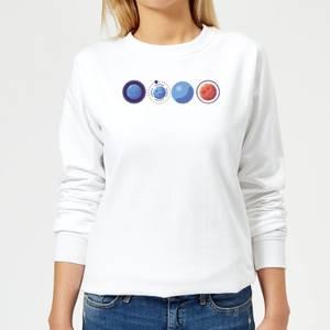 Planets Women's Sweatshirt - White