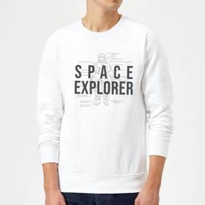 Space Explorer Schematic Sweatshirt - White