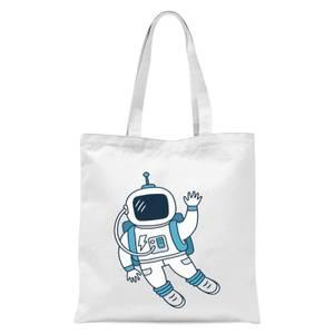 Astronaut Waving Tote Bag - White