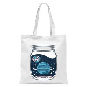 Space Jar Tote Bag - White