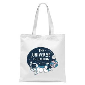 The Universe Is Calling Tote Bag - White