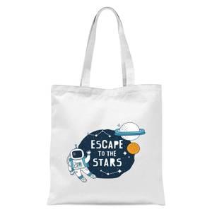 Escape To The Stars Tote Bag - White