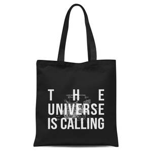 The Universe Is Calling Schematic Tote Bag - Black