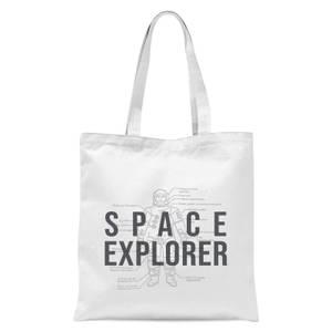 Space Explorer Schematic Tote Bag - White