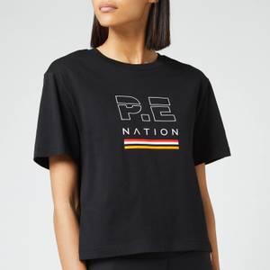 P.E Nation Women's Ignition Cropped Short Sleeve T-Shirt - Black