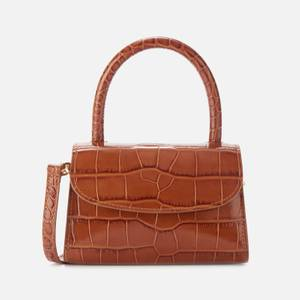 BY FAR Women's Mini Croco Embossed Shoulder Bag - Tan