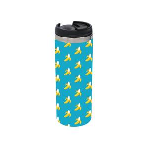 Banana Pattern Stainless Steel Thermo Travel Mug