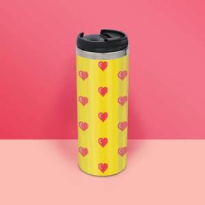 Love Heart Pattern Stainless Steel Travel Mug
