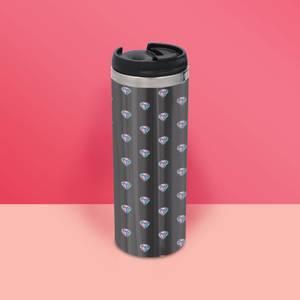 Diamond Pattern Stainless Steel Travel Mug