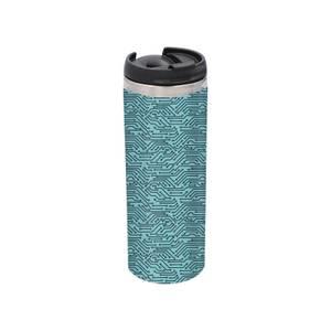 Motherboard Pattern Stainless Steel Thermo Travel Mug - Metallic Finish