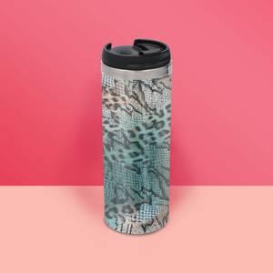 Colourful Animal Print Stainless Steel Travel Mug