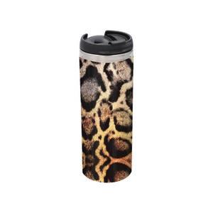 Snake Print Stainless Steel Thermo Travel Mug - Metallic Finish