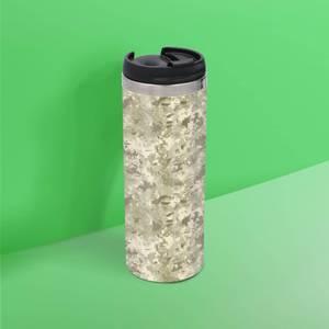 Green Khaki Camo Stainless Steel Travel Mug