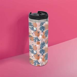 Pink Blue Camo Stainless Steel Travel Mug