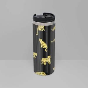 Cheetah Dark Stainless Steel Travel Mug