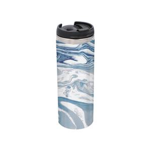Blue Marble Stainless Steel Thermo Travel Mug - Metallic Finish