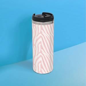 Simple Zebra Stainless Steel Travel Mug