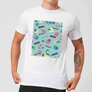 90's Funky Pattern Men's T-Shirt - White