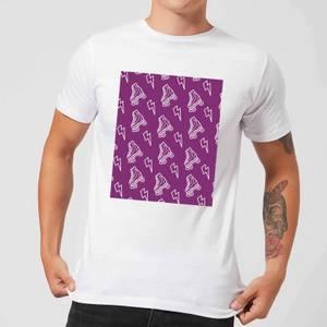 Roller Skate Pattern Purple Men's T-Shirt - White