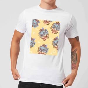 Cassette Tape Love Pattern Men's T-Shirt - White