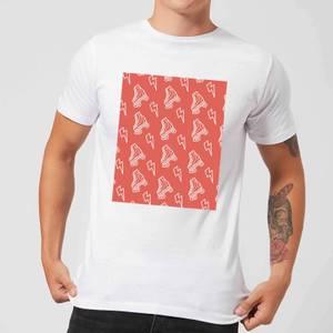 Roller Skate Pattern Red Men's T-Shirt - White