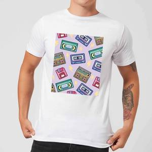 90's Product Scattered Pattern Men's T-Shirt - White