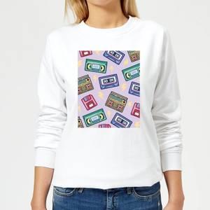 90's Product Scattered Pattern Women's Sweatshirt - White