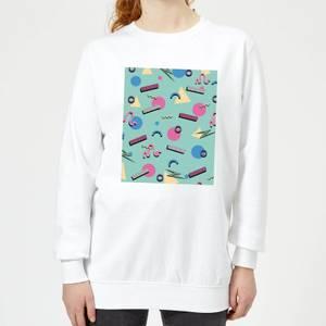 90's Funky Pattern Women's Sweatshirt - White