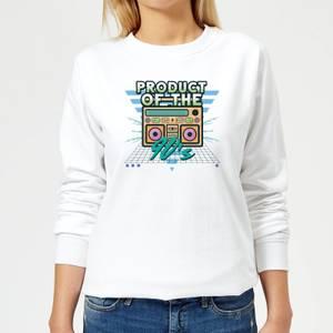 Product Of The 90's Boom Box Women's Sweatshirt - White