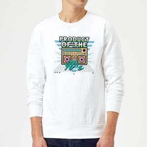 Product Of The 90's Boom Box Sweatshirt - White