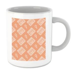 Boombox Pattern Orange Mug