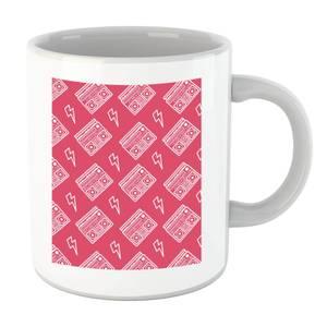 Boombox Pattern Pink Mug