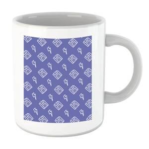 Floppy Disc Pattern Purple Mug