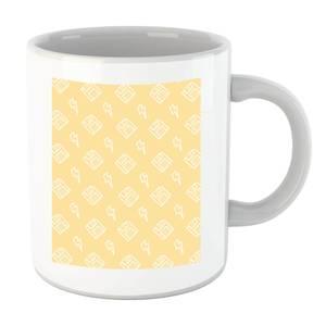 Floppy Disc Pattern Yellow Mug
