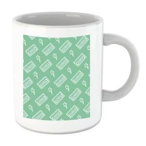 VHS Tape Pattern Green Mug