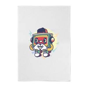 Cassette Tape Love Character Cotton Tea Towel