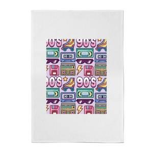 90's Product Tiled Pattern Cotton Tea Towel