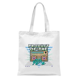 Product Of The 90's Boom Box Tote Bag - White