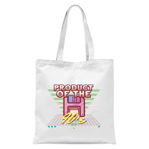 Product Of The 90's Floppy Disc Tote Bag - White