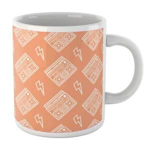 Boombox Pattern Orange Mug Mug