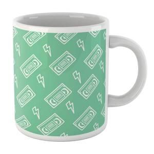 VHS Tape Pattern Green Mug Mug