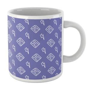 Floppy Disc Pattern Purple Mug Mug