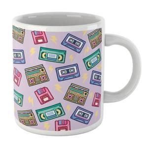 90's Product Scattered Pattern White Mug Mug