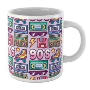 90's Product Tiled Pattern White Mug Mug