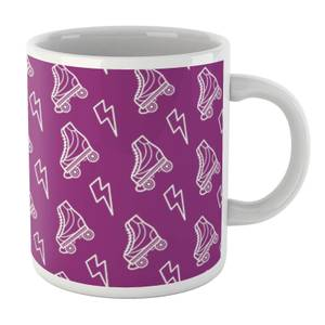 Roller Skate Pattern Purple White Mug Mug