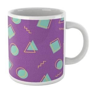 90's Circle Square Triangle Pattern White Mug Mug